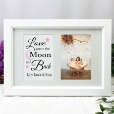 Love You Photo Frame Typography Print 4x6 White
