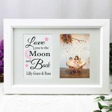 Love You Photo Frame Typography Print 4x6 White