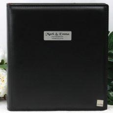 Personalised Drymount Engagement Photo Album - Black