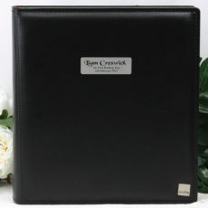 Personalised Drymount Naming Day Photo Album - Black