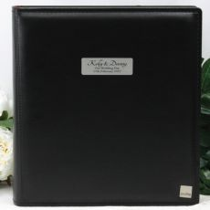 Personalised Drymount Wedding Photo Album - Black