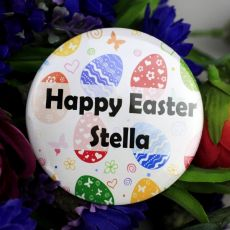 Personalised Happy Easter Badge