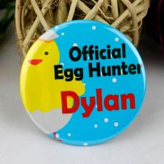 Personalised Easter Egg Hunter Badge - Chicken