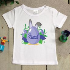 Personalised Easter Shirt - 1-2 years - Blue Egg