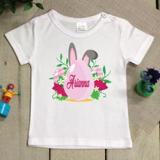 Personalised Easter Shirt - 1-2 years - Pink Egg
