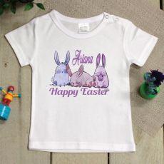 Personalised Easter T-Shirt - 1-2 Years - Pastel Bunnies