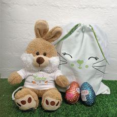 Easter Bunny Plush & Hunt Bag Set Green