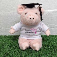 Personalised Graduation Pig Plush