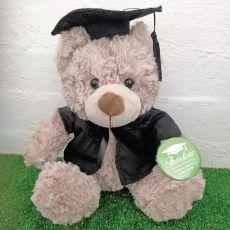 Graduation Brown Shaggyy Bear with Personalised Badge