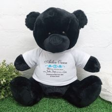 Christening Personalised T-Shirt Bear 40cm Black