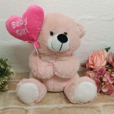 Baby Girl Bear With Balloon