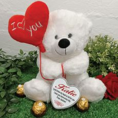 I Love You Valentines Bear with Heart Tin