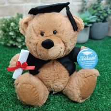 Graduation Teddy Bear with Personalised Badge
