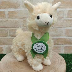 Llama Plush with Birthday Badge