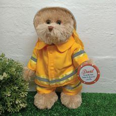 Fireman Bear with Personalised Badge Plush 30cm