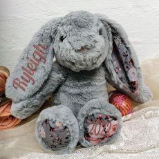 Easter Bunny  Rabbit Plush Breeze Grey