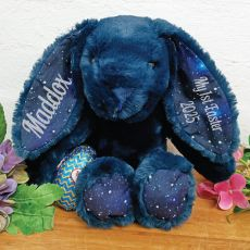 Personalised 1st Easter Bunny Plush Breeze Blue