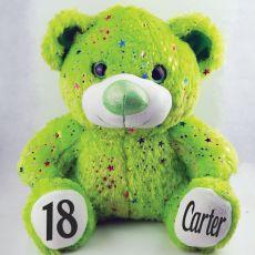 18th Birthday Teddy Bear 40cm Hollywood Green