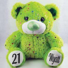 21st Birthday Teddy Bear 40cm Hollywood Green