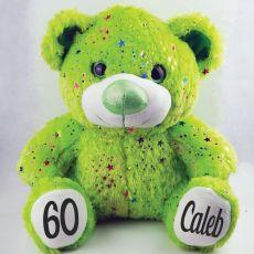 60th Birthday Teddy Bear 40cm Hollywood Green