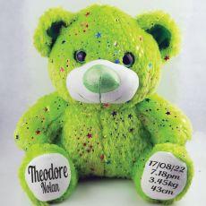 Baby Birth Details Teddy Bear 40cm Hollywood Lime