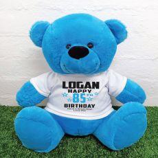 Personalised Birthday Bear Blue 40cm