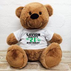 Personalised 21st Birthday Bear Brown 40cm