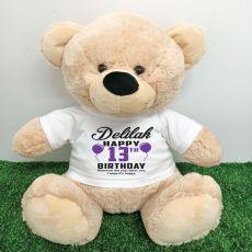 Personalised 13th Birthday Bear Cream 40cm