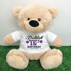 Personalised 16th Birthday Bear Cream 40cm