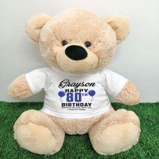 Personalised 30th Birthday Bear Cream 40cm