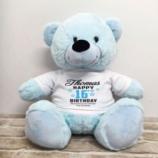 Personalised 16th Birthday Bear Light Blue 40cm