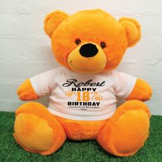 Personalised 18th Birthday Bear Orange 40cm