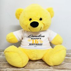 Personalised 16th Birthday Bear Yellow 40cm