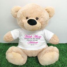 Memorial  Bear with T-Shirt 40cm Cream