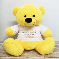 Personalised Memory Teddy Bear 40cm Yellow