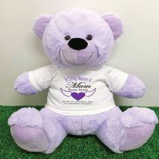 In Loving Memory Teddy Bear 40cm Lavender