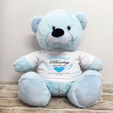 In Loving Memory Teddy Bear 40cm Light Blue