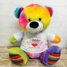 In Loving Memory Teddy Bear 40cm Rainbow