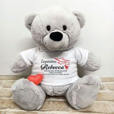 Voice Recordable Graduation Bear with T-Shirt - Grey 40cm