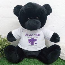 Personalised Baptism Bear 40cm Black