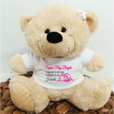 Personalised Baby Angel Bear Cream Plush