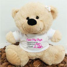 Personalised Baby Angel Bear Cream Plush