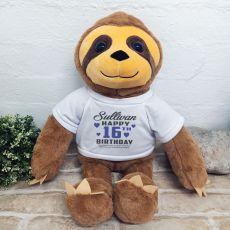 16th Birthday Personalised Sloth Plush