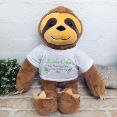 Personalised Naming Day Sloth Bear 40cm