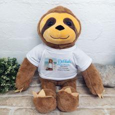 Personalised Memorial Photo Sloth Bear 40cm