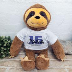 Personalised 16th Birthday Sloth Bear
