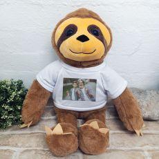 Personalised Photo Sloth Bear 40cm