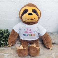 Personalised Sister Sloth Bear 40cm