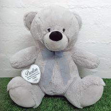 Holy Communion Keepsake Bear with heart Grey 40cm