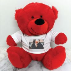 Personalised Photo T-Shirt Teddy Bear - Red